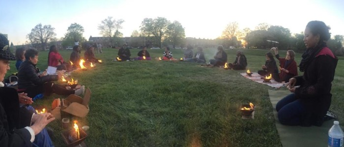fires for peace in Balto.