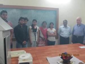 Dr. Ulrich Berk, right, with staff and students of North Maharashtra University, India
